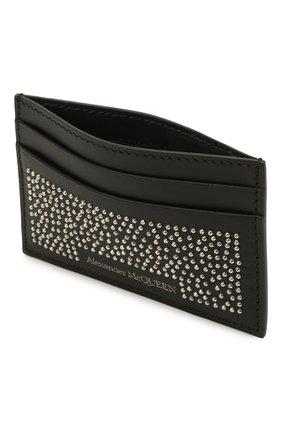 Мужской кожаный футляр для кредитных карт ALEXANDER MCQUEEN черного цвета, арт. 602144/1AACF | Фото 3