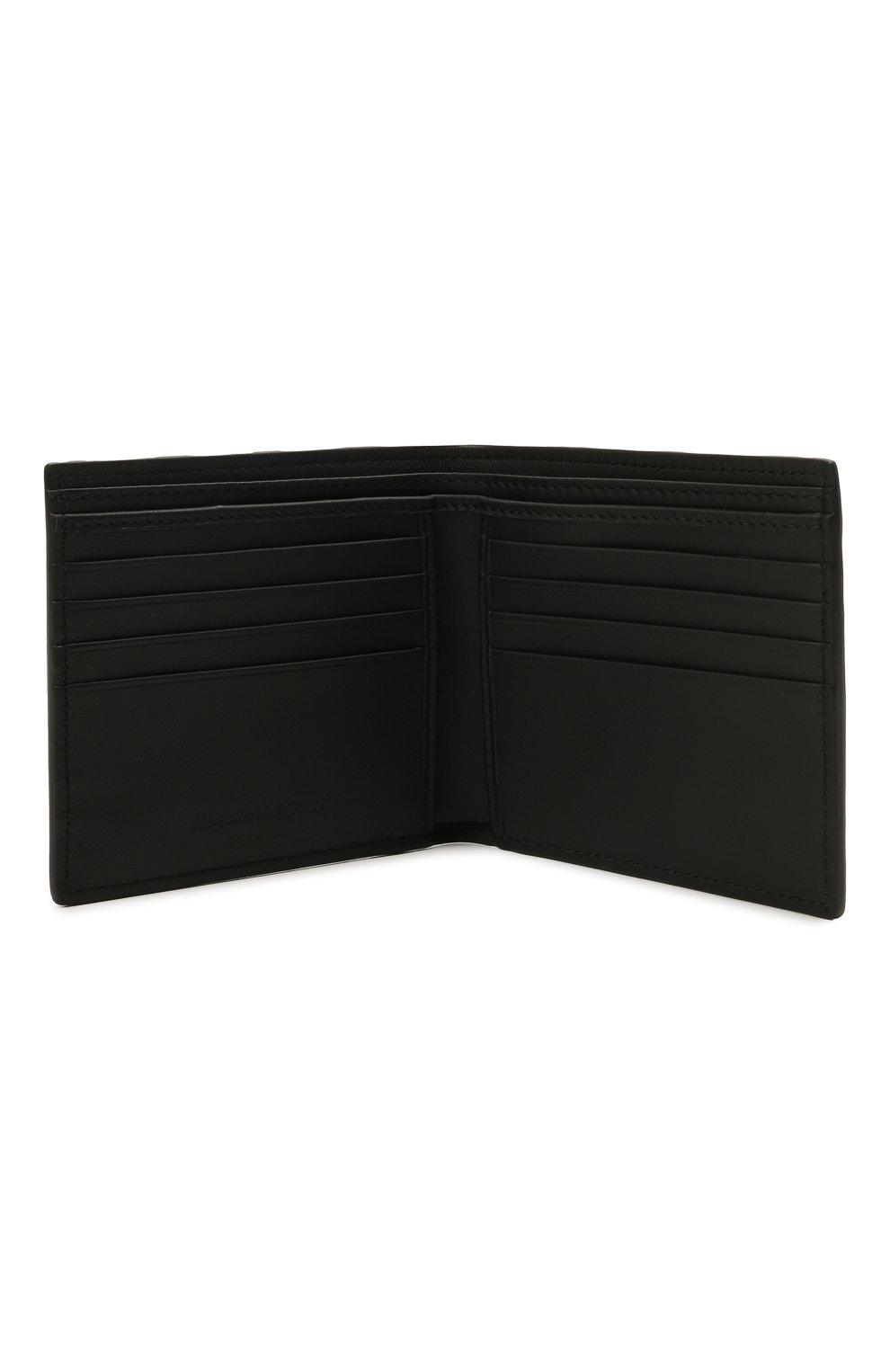 Мужской кожаное портмоне ALEXANDER MCQUEEN черного цвета, арт. 602137/1AACS | Фото 3