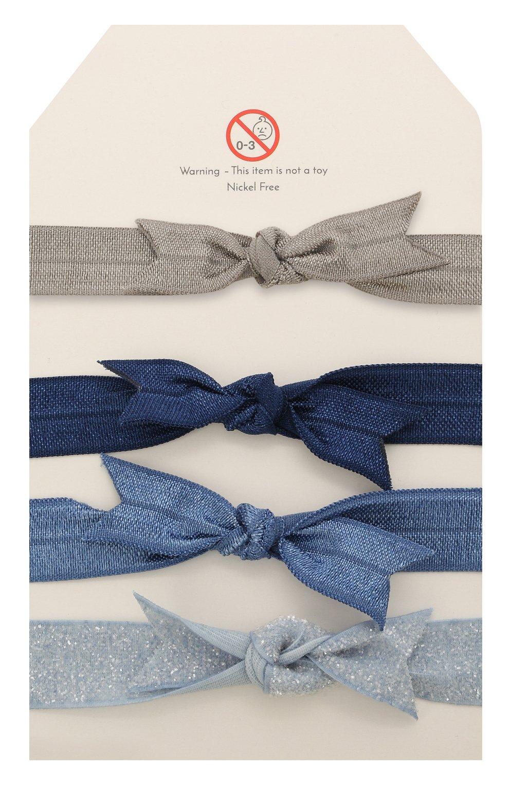 Детская набор из четырех резинок MILLEDEUX синего цвета, арт. HTC-09 | Фото 2