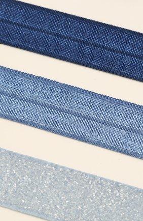 Детская набор из четырех резинок MILLEDEUX синего цвета, арт. HTC-09 | Фото 3