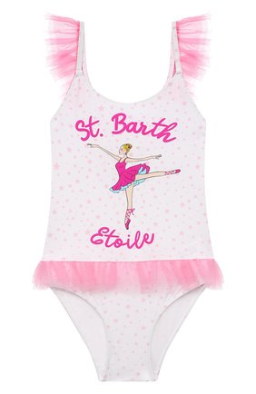 Детского слитный купальник MC2 SAINT BARTH розового цвета, арт. STBK SWAN/SWA0001   Фото 1
