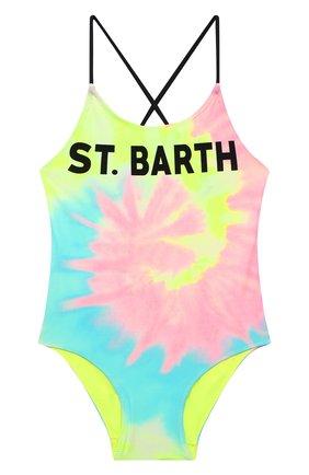 Детского слитный купальник MC2 SAINT BARTH разноцветного цвета, арт. STBK SHADY/SHA0001   Фото 1