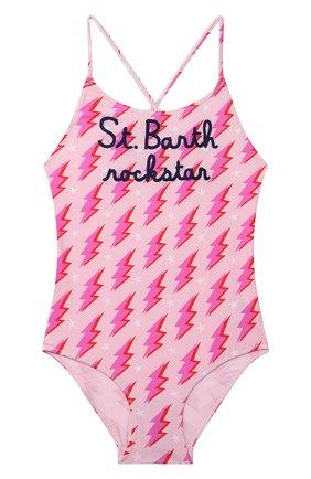 Детского слитный купальник MC2 SAINT BARTH розового цвета, арт. STBK SHADY/SHA0001   Фото 1