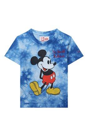 Детская хлопковая футболка MC2 SAINT BARTH синего цвета, арт. STBK P0RT0FIN0 JR T/P0T0006   Фото 1