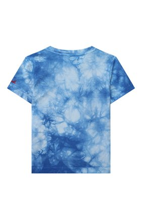 Детская хлопковая футболка MC2 SAINT BARTH синего цвета, арт. STBK P0RT0FIN0 JR T/P0T0006   Фото 2