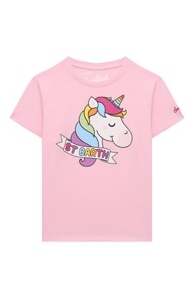 Детская хлопковая футболка MC2 SAINT BARTH розового цвета, арт. STBK EMMA/EMM0001/SBPY21 | Фото 1