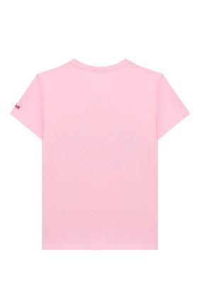 Детская хлопковая футболка MC2 SAINT BARTH розового цвета, арт. STBK EMMA/EMM0001/SBPY21 | Фото 2