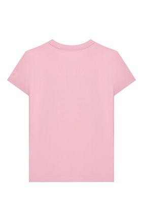 Детская хлопковая футболка MC2 SAINT BARTH розового цвета, арт. STBK ELLY/ELLY001/EBPR22 | Фото 2
