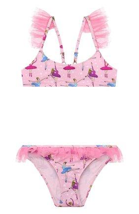 Детского раздельный купальник MC2 SAINT BARTH розового цвета, арт. STBK DALYA/DALY001   Фото 1