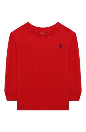 Детская хлопковый лонгслив RALPH LAUREN красного цвета, арт. 320843804   Фото 1