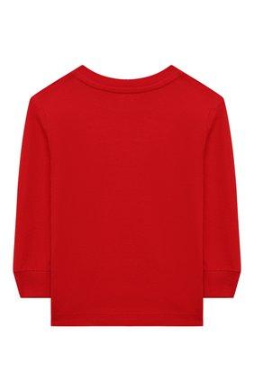 Детская хлопковый лонгслив RALPH LAUREN красного цвета, арт. 320843804   Фото 2