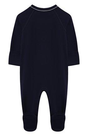 Детский хлопковый комбинезон POLO RALPH LAUREN синего цвета, арт. 320552445   Фото 2