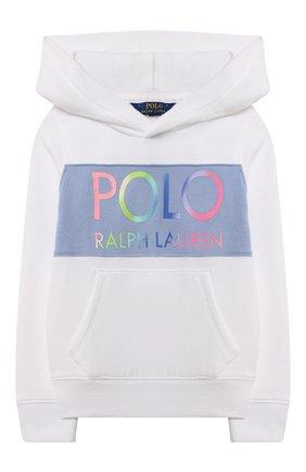 Детский хлопковое худи POLO RALPH LAUREN белого цвета, арт. 313841398 | Фото 1