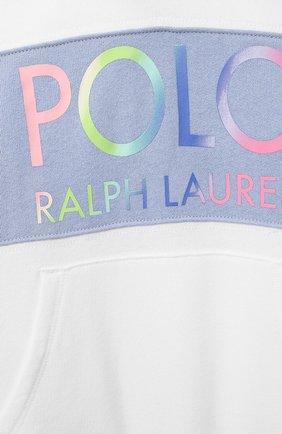Детский хлопковое худи POLO RALPH LAUREN белого цвета, арт. 311841398 | Фото 3