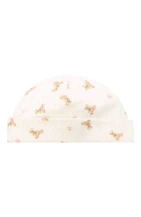 Детского хлопковая шапка POLO RALPH LAUREN белого цвета, арт. 310682713 | Фото 1