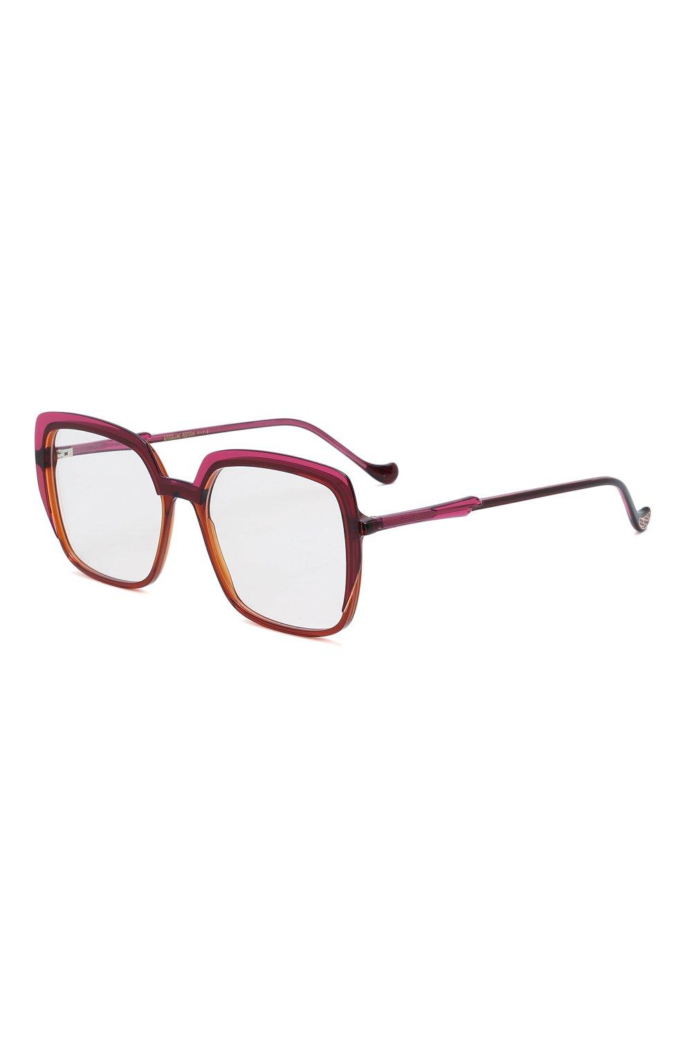 Женские оправа CAROLINE ABRAM темно-розового цвета, арт. ELEKTRA 737 | Фото 1 (Тип очков: Оправа; Очки форма: Квадратные, Бабочка; Оптика Гендер: оптика-женское)