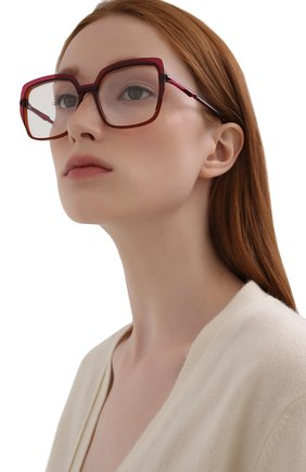 Женские оправа CAROLINE ABRAM темно-розового цвета, арт. ELEKTRA 737 | Фото 2 (Тип очков: Оправа; Очки форма: Квадратные, Бабочка; Оптика Гендер: оптика-женское)