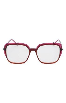 Женские оправа CAROLINE ABRAM темно-розового цвета, арт. ELEKTRA 737 | Фото 3 (Тип очков: Оправа; Очки форма: Квадратные, Бабочка; Оптика Гендер: оптика-женское)