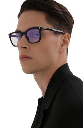 Мужские оправа TOM FORD черного цвета, арт. TF5736-B 001 | Фото 2 (Тип очков: Оправа; Оптика Гендер: оптика-мужское; Очки форма: Прямоугольные)