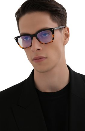 Мужские оправа TOM FORD черного цвета, арт. TF5736-B 005 | Фото 2 (Тип очков: Оправа; Оптика Гендер: оптика-мужское; Очки форма: Прямоугольные)