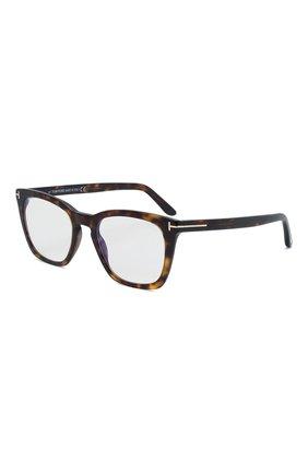 Мужские оправа TOM FORD темно-коричневого цвета, арт. TF5736-B 052 | Фото 1 (Тип очков: Оправа; Оптика Гендер: оптика-мужское; Очки форма: Прямоугольные)