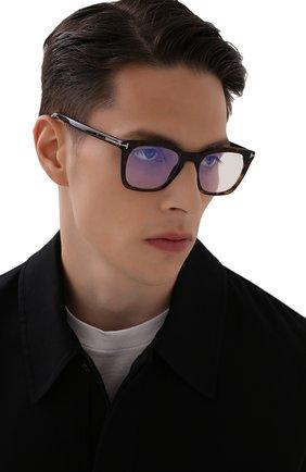 Мужские оправа TOM FORD темно-коричневого цвета, арт. TF5736-B 052 | Фото 2 (Тип очков: Оправа; Оптика Гендер: оптика-мужское; Очки форма: Прямоугольные)