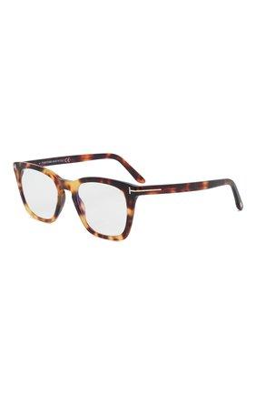 Мужские оправа TOM FORD коричневого цвета, арт. TF5736-B 053 | Фото 1 (Тип очков: Оправа; Оптика Гендер: оптика-мужское; Очки форма: Прямоугольные)