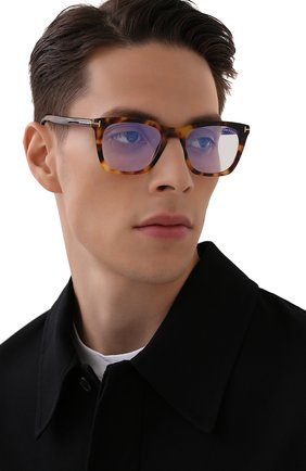 Мужские оправа TOM FORD коричневого цвета, арт. TF5736-B 053 | Фото 2 (Тип очков: Оправа; Оптика Гендер: оптика-мужское; Очки форма: Прямоугольные)