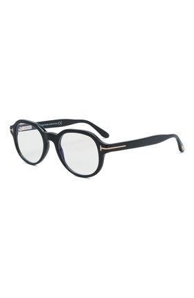 Мужские оправа TOM FORD черного цвета, арт. TF5697-B 001 | Фото 1 (Тип очков: Оправа; Очки форма: Круглые; Оптика Гендер: оптика-мужское)