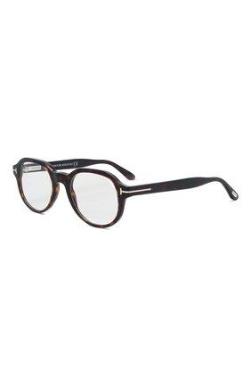 Мужские оправа TOM FORD темно-коричневого цвета, арт. TF5697-B 052 | Фото 1 (Тип очков: Оправа; Очки форма: Круглые; Оптика Гендер: оптика-мужское)
