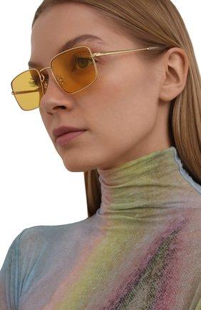 Женские солнцезащитные очки RAY-BAN желтого цвета, арт. 3669-001/Q1 | Фото 2