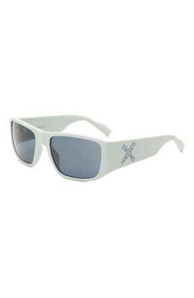 Женские солнцезащитные очки KENZO голубого цвета, арт. KZ40126I 20V | Фото 1 (Тип очков: С/з; Оптика Гендер: оптика-унисекс; Очки форма: Прямоугольные)