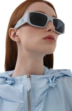 Женские солнцезащитные очки KENZO голубого цвета, арт. KZ40126I 20V | Фото 2 (Тип очков: С/з; Оптика Гендер: оптика-унисекс; Очки форма: Прямоугольные)