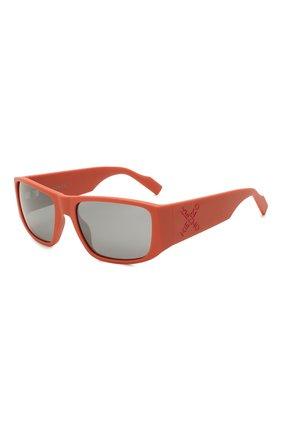 Женские солнцезащитные очки KENZO оранжевого цвета, арт. KZ40126I 43C | Фото 1 (Тип очков: С/з; Оптика Гендер: оптика-унисекс; Очки форма: Прямоугольные)
