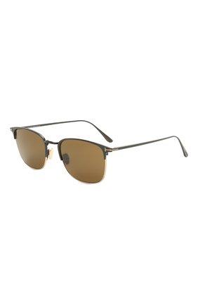 Мужские солнцезащитные очки TOM FORD хаки цвета, арт. TF851 01J | Фото 1