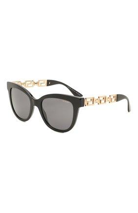Женские солнцезащитные очки VERSACE черного цвета, арт. 4394-GB1/81   Фото 1 (Тип очков: С/з; Очки форма: Cat-eye, Бабочка; Оптика Гендер: оптика-женское)