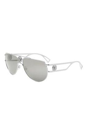Женские солнцезащитные очки VERSACE серебряного цвета, арт. 2225-10016G | Фото 1