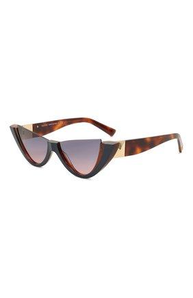 Женские солнцезащитные очки VALENTINO коричневого цвета, арт. 4095-5182I6 | Фото 1