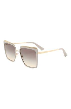 Женские солнцезащитные очки PRADA серого цвета, арт. 58WS-04R130 | Фото 1 (Тип очков: С/з; Очки форма: Квадратные, Прямоугольные; Оптика Гендер: оптика-женское)