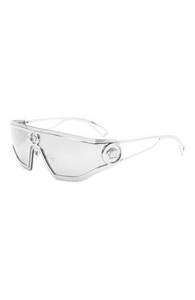 Женские солнцезащитные очки VERSACE серебряного цвета, арт. 2226-10006G | Фото 1