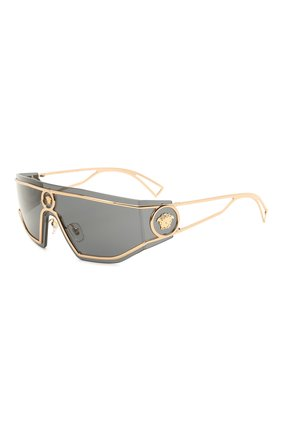 Женские солнцезащитные очки VERSACE черного цвета, арт. 2226-100287 | Фото 1