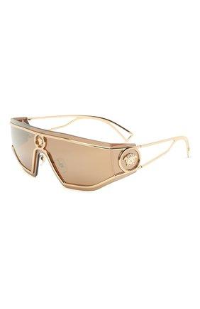 Женские солнцезащитные очки VERSACE золотого цвета, арт. 2226-12527P | Фото 1