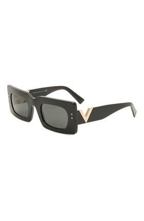 Женские солнцезащитные очки VALENTINO черного цвета, арт. 4094-500187 | Фото 1