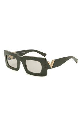 Женские солнцезащитные очки VALENTINO черного цвета, арт. 4094-517687 | Фото 1