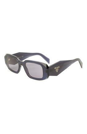 Женские солнцезащитные очки PRADA синего цвета, арт. 17WS-08Q420   Фото 1 (Тип очков: С/з; Оптика Гендер: оптика-женское; Очки форма: Прямоугольные)