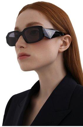 Женские солнцезащитные очки PRADA синего цвета, арт. 17WS-08Q420   Фото 2 (Тип очков: С/з; Оптика Гендер: оптика-женское; Очки форма: Прямоугольные)