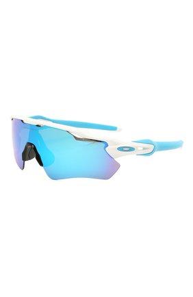 Женские солнцезащитные очки OAKLEY голубого цвета, арт. 9208-920857 | Фото 1