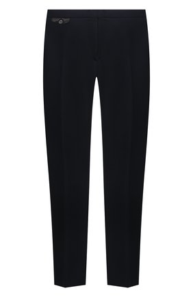 Мужские шелковые брюки ZILLI темно-синего цвета, арт. M0V-40-38P-E6041/0001/60-68 | Фото 1 (Материал подклада: Вискоза; Длина (брюки, джинсы): Стандартные; Случай: Повседневный; Материал внешний: Шелк; Стили: Кэжуэл; Big sizes: Big Sizes)