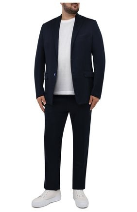 Мужской шелковый пиджак ZILLI темно-синего цвета, арт. MNV-JC2F-2-E6041/0001/60-68 | Фото 2 (Случай: Коктейльный; 1-2-бортные: Однобортные; Пиджаки М: Приталенный; Материал внешний: Шелк; Стили: Классический; Материал подклада: Шелк; Big sizes: Big Sizes; Длина (для топов): Стандартные; Рукава: Длинные)