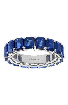 Женские кольцо MERCURY бесцветного цвета, арт. MR27506/WG/1SP0.5 | Фото 2 (Драгоценные камни: Сапфиры; Материал сплава: Белое золото)